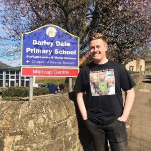 Visiting Darley Dale primary school to unveil a new public defibrillator.
