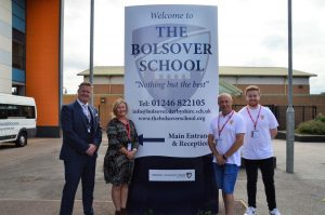Accepting a donation from The Bolsover School (Sept 2021)